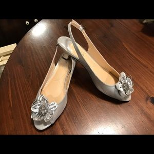 J. Renee Silver Shoes